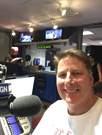 Glenn at Radio Studio